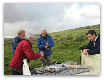 Michelin Star Chefs Enjoying Connemara Mountain Lamb At Source.